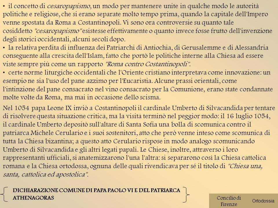 Su pressione di Cosimo il Vecchio nel 1439 il concilio venne trasferito a Firenze dopo varie peripezie tra Basilea e Ferrara.
