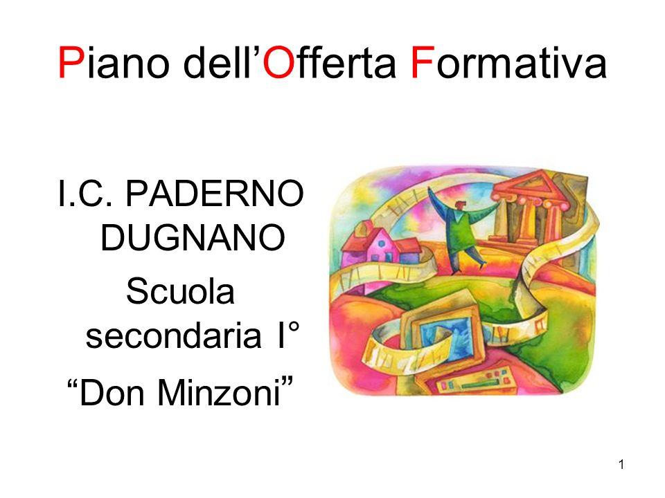 1 Piano dellOfferta Formativa I.C. PADERNO DUGNANO Scuola secondaria I° Don Minzoni