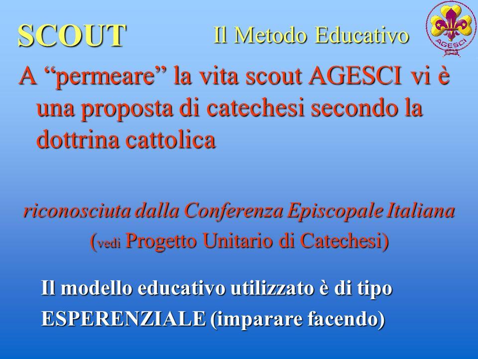 SCOUT A permeare la vita scout AGESCI vi è una proposta di catechesi secondo la dottrina cattolica riconosciuta dalla Conferenza Episcopale Italiana (