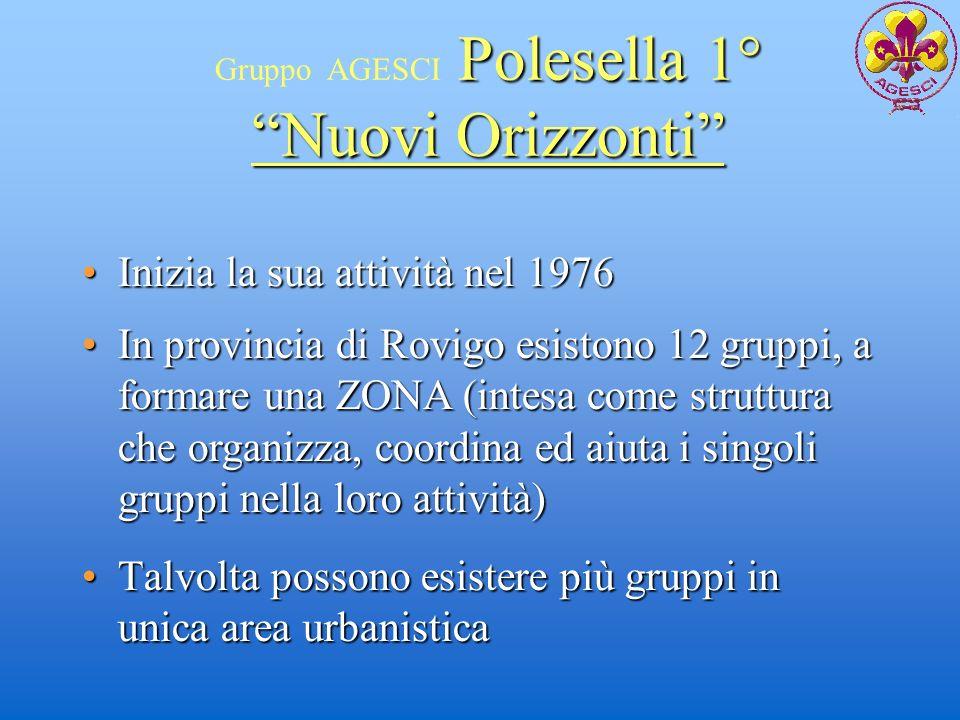 Polesella 1° Gruppo AGESCI Polesella 1° Talvolta possono esistere più gruppi in unica area urbanisticaTalvolta possono esistere più gruppi in unica ar