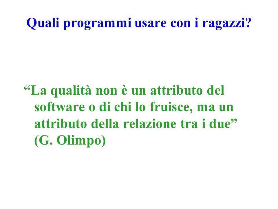 La qualità non è un attributo del software o di chi lo fruisce, ma un attributo della relazione tra i due (G.