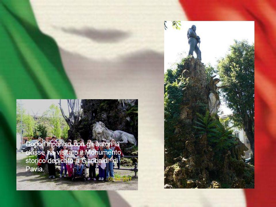 Dopo lincontro con gli autori la classe ha visitato il Monumento storico dedicato a Garibaldi di Pavia.
