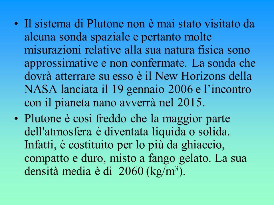 Il sistema di Plutone non è mai stato visitato da alcuna sonda spaziale e pertanto molte misurazioni relative alla sua natura fisica sono approssimati