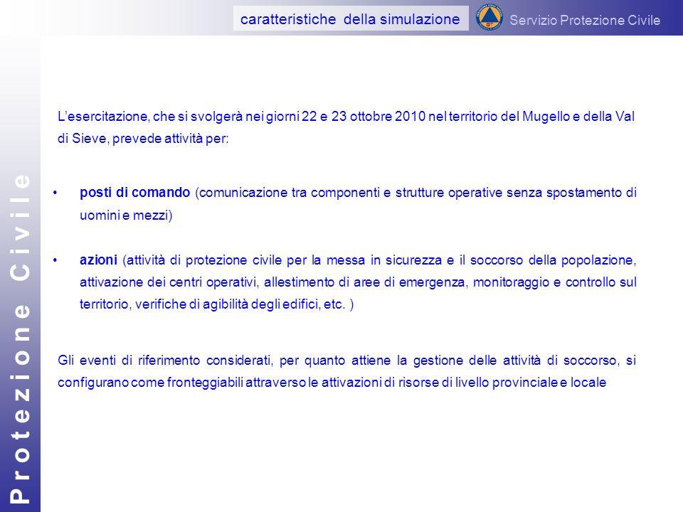 P r o t e z i o n e C i v i l e posti di comando (comunicazione tra componenti e strutture operative senza spostamento di uomini e mezzi) azioni (atti