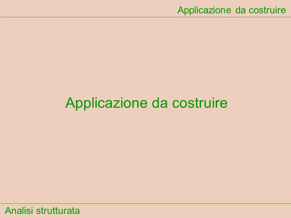 Analisi strutturata Dizionario dei dati...