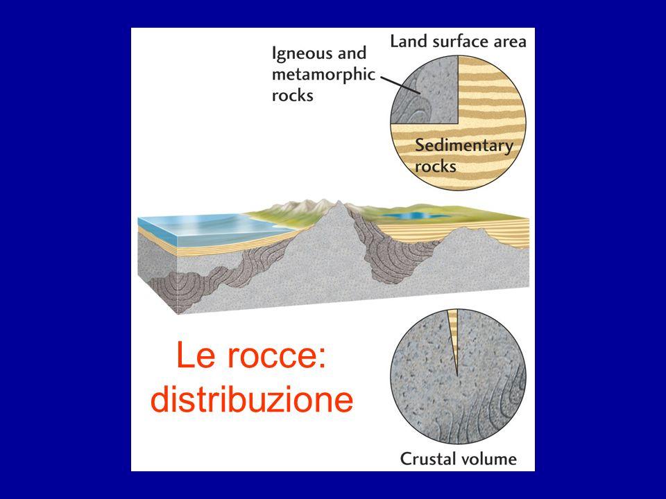 Le rocce: distribuzione