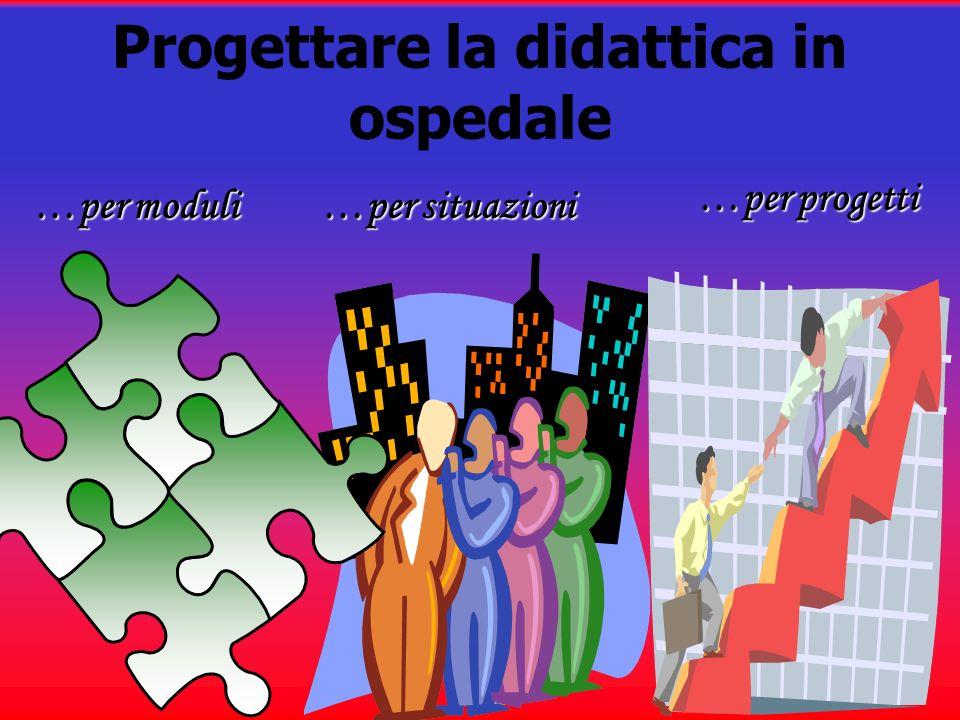 Progettare la didattica in ospedale …per moduli…per situazioni …per progetti