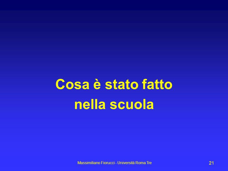 Massimiliano Fiorucci - Università Roma Tre 21 Cosa è stato fatto nella scuola