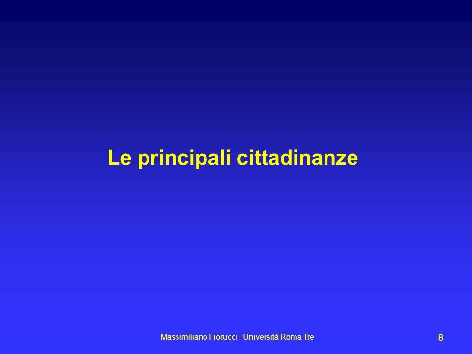 Massimiliano Fiorucci - Università Roma Tre 8 Le principali cittadinanze