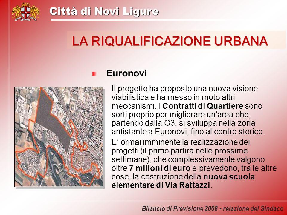 Città di Novi Ligure Bilancio di Previsione 2008 - relazione del Sindaco Euronovi Il progetto ha proposto una nuova visione viabilistica e ha messo in