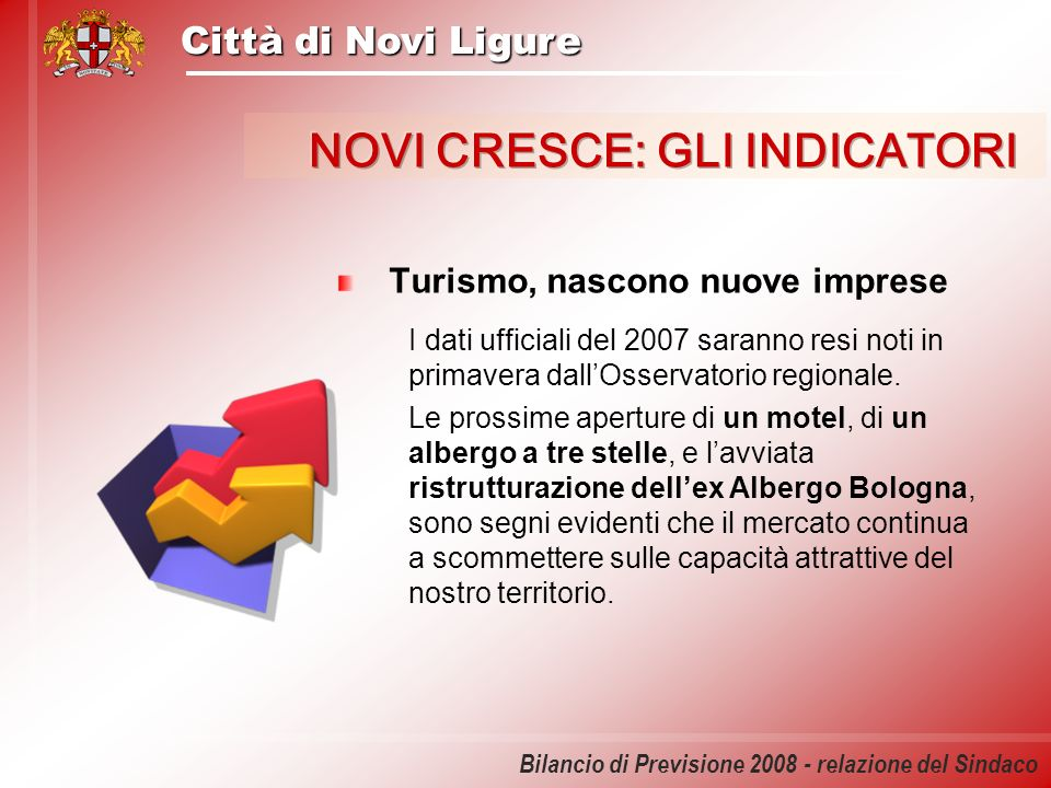 Città di Novi Ligure Bilancio di Previsione 2008 - relazione del Sindaco La manutenzione della città Con la riorganizzazione del settore effettuata nel 2007 sono stati ottenuti risultati importanti in termini di efficienza ed efficacia del servizio.