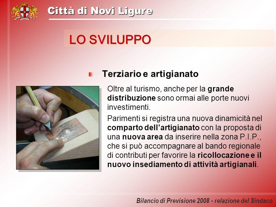 Città di Novi Ligure Bilancio di Previsione 2008 - relazione del Sindaco Il commercio Presto sarà sottoposta al Consiglio Comunale una proposta di variante del P.I.R.U.