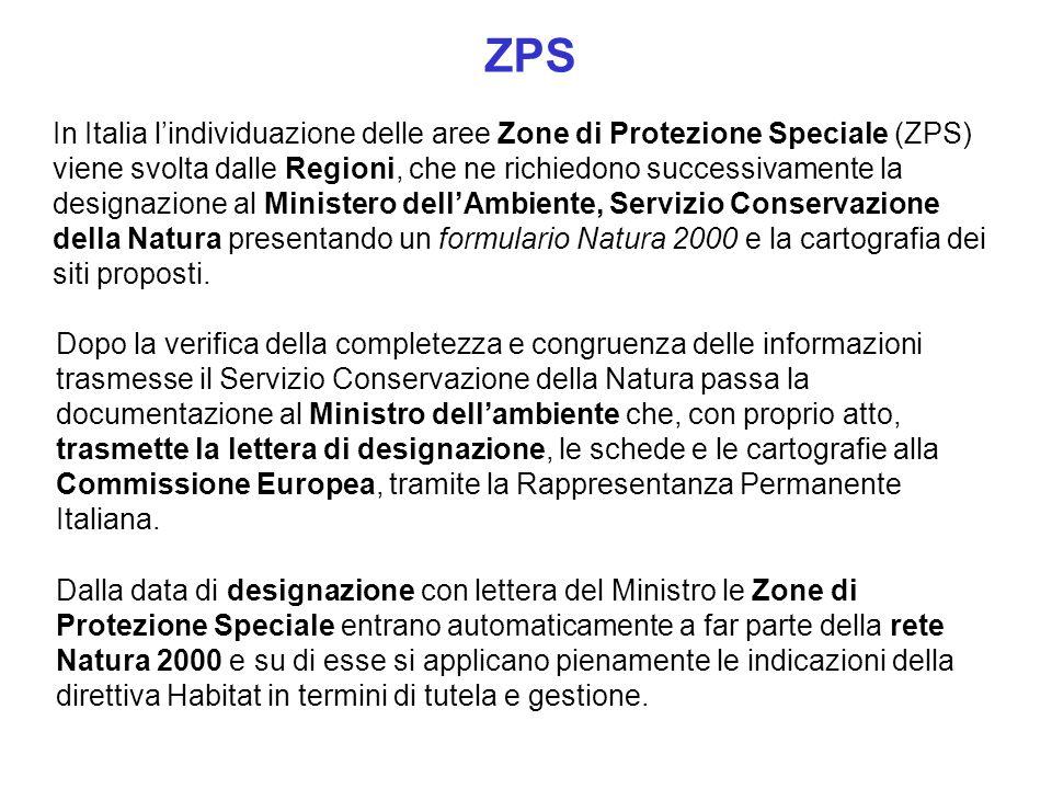 Dalla data di designazione con lettera del Ministro le Zone di Protezione Speciale entrano automaticamente a far parte della rete Natura 2000 e su di