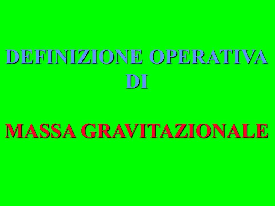 DEFINIZIONE OPERATIVA DI MASSA GRAVITAZIONALE