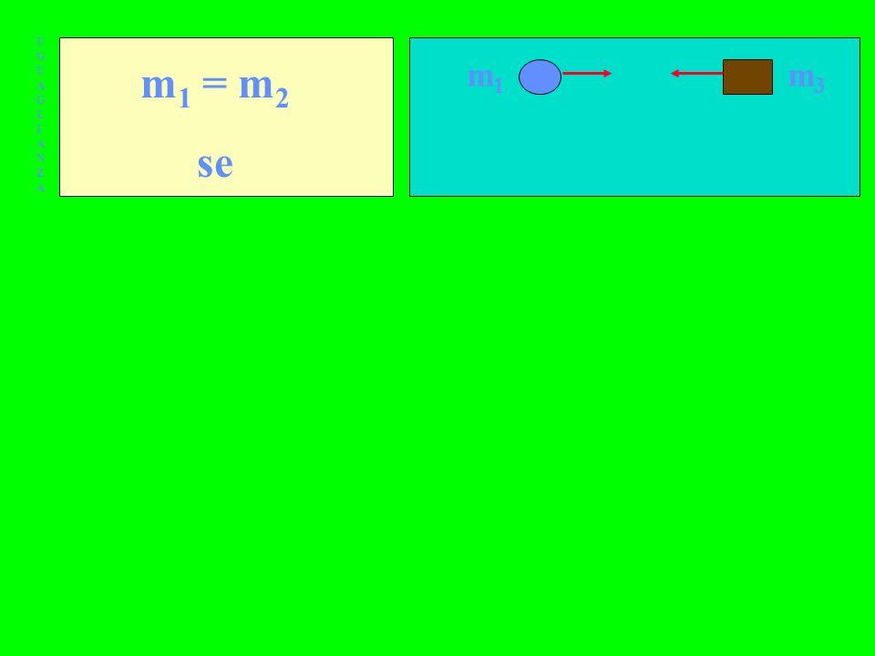 UGUAGLIANZAUGUAGLIANZA m 1 = m 2 se m1m1 m3m3