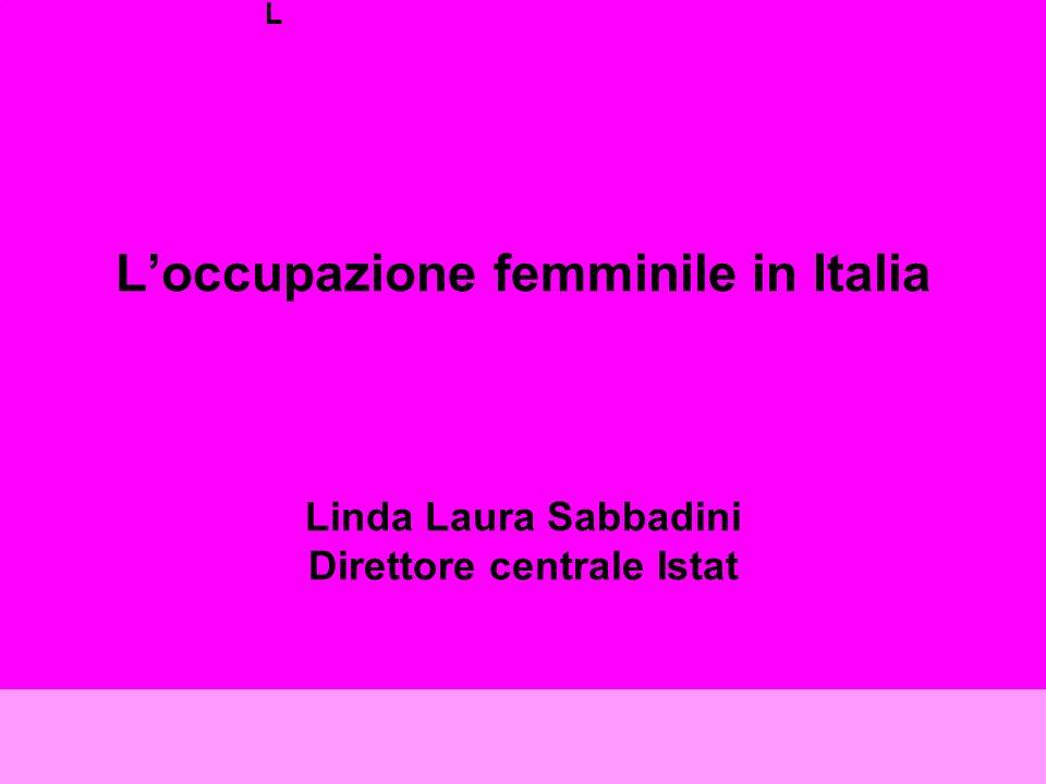 Loccupazione femminile in Italia Linda Laura Sabbadini Direttore centrale Istat L