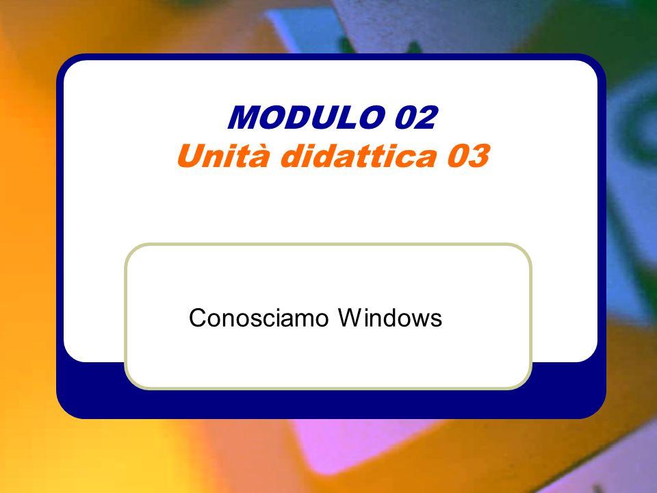 MODULO 02 Unità didattica 03 Conosciamo Windows