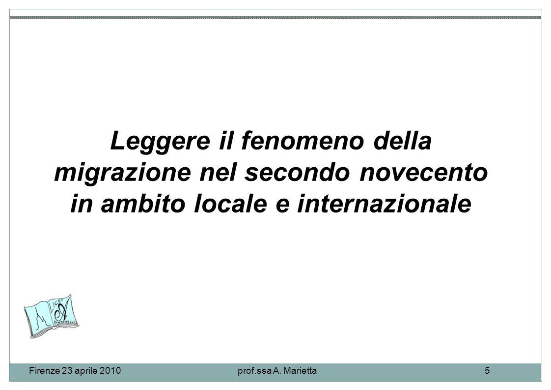 Firenze 23 aprile 2010prof.ssa A.