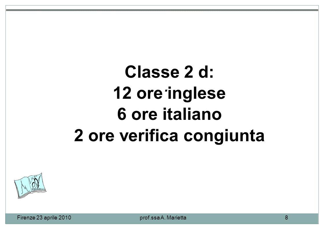 Firenze 23 aprile 2010prof.ssa A. Marietta8.