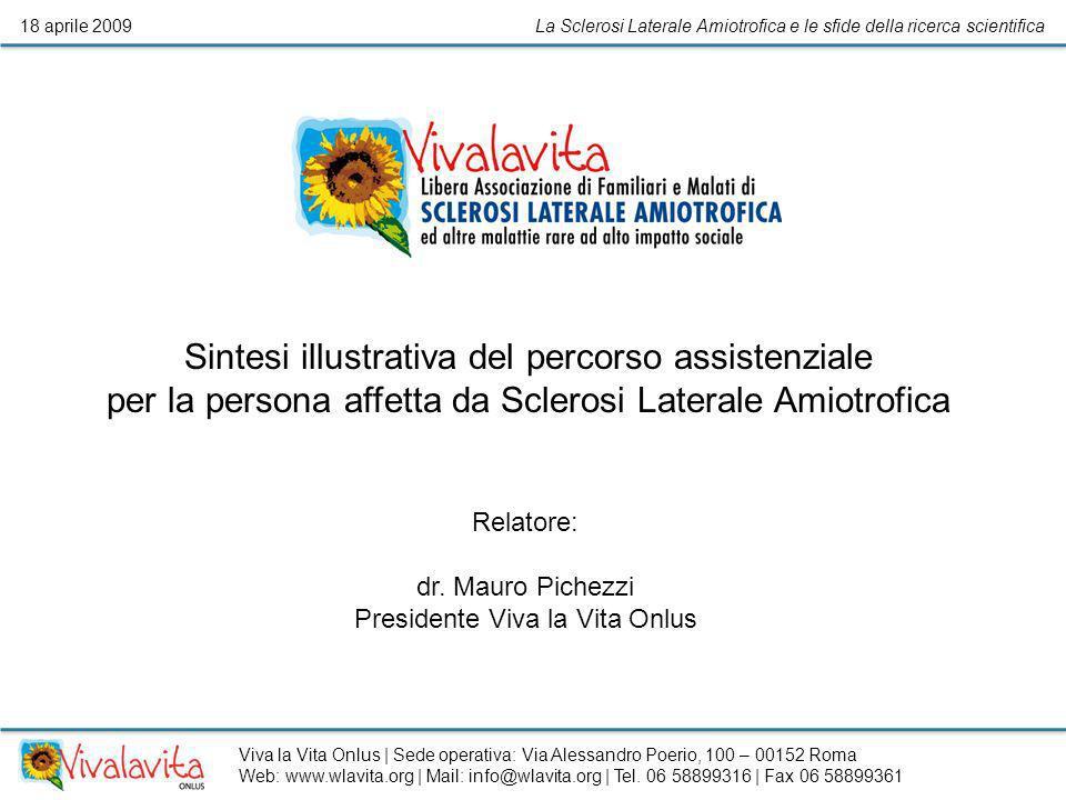 La Sclerosi Laterale Amiotrofica e le sfide della ricerca scientifica18 aprile 2009 Sintesi illustrativa del percorso assistenziale per la persona aff