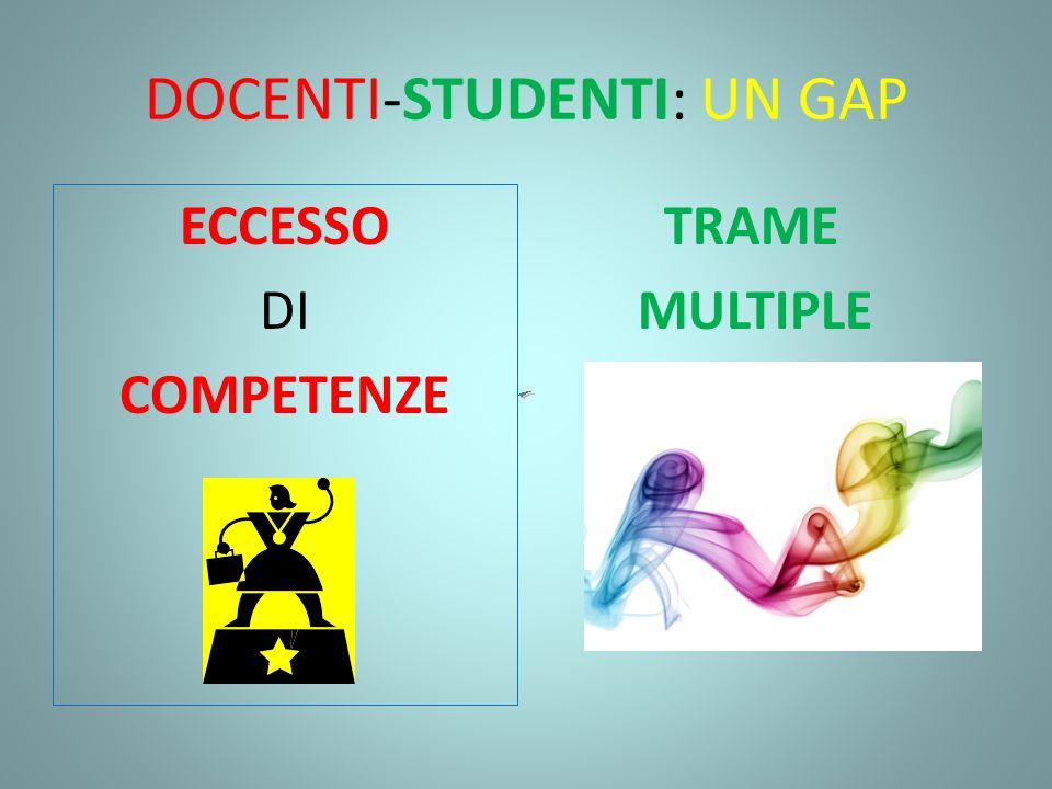 DOCENTI-STUDENTI: UN GAP ECCESSO DI COMPETENZE TRAME MULTIPLE