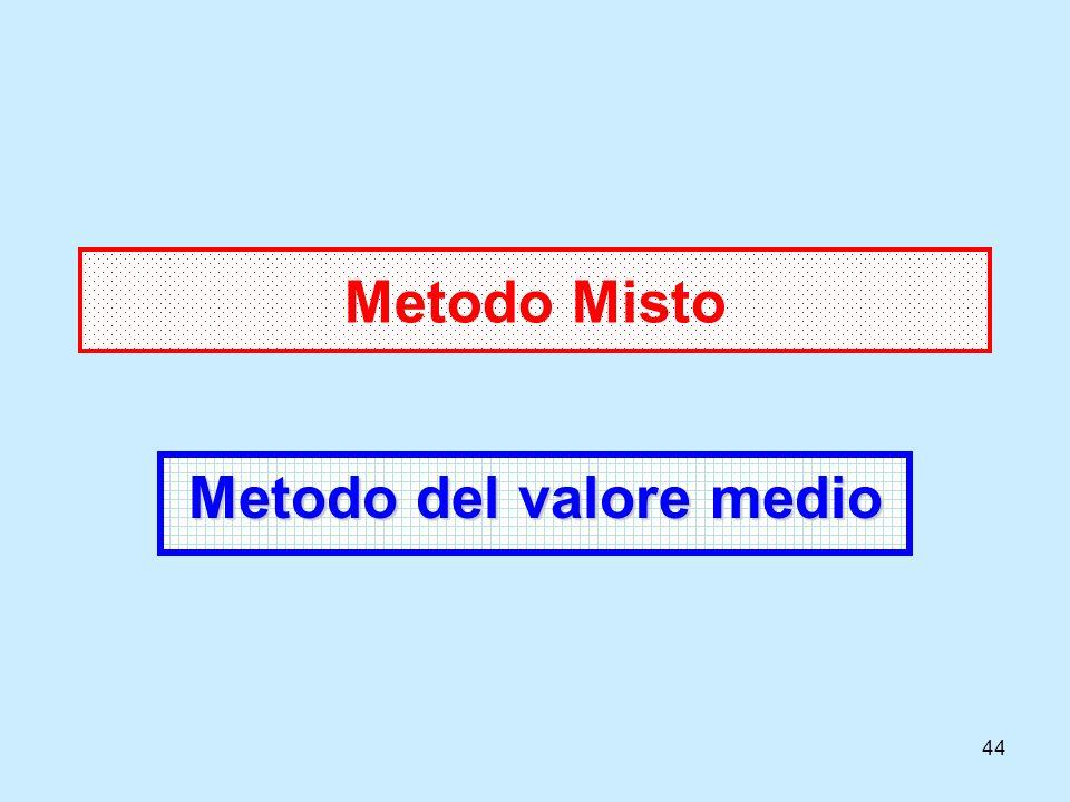 44 Metodo Misto Metodo del valore medio