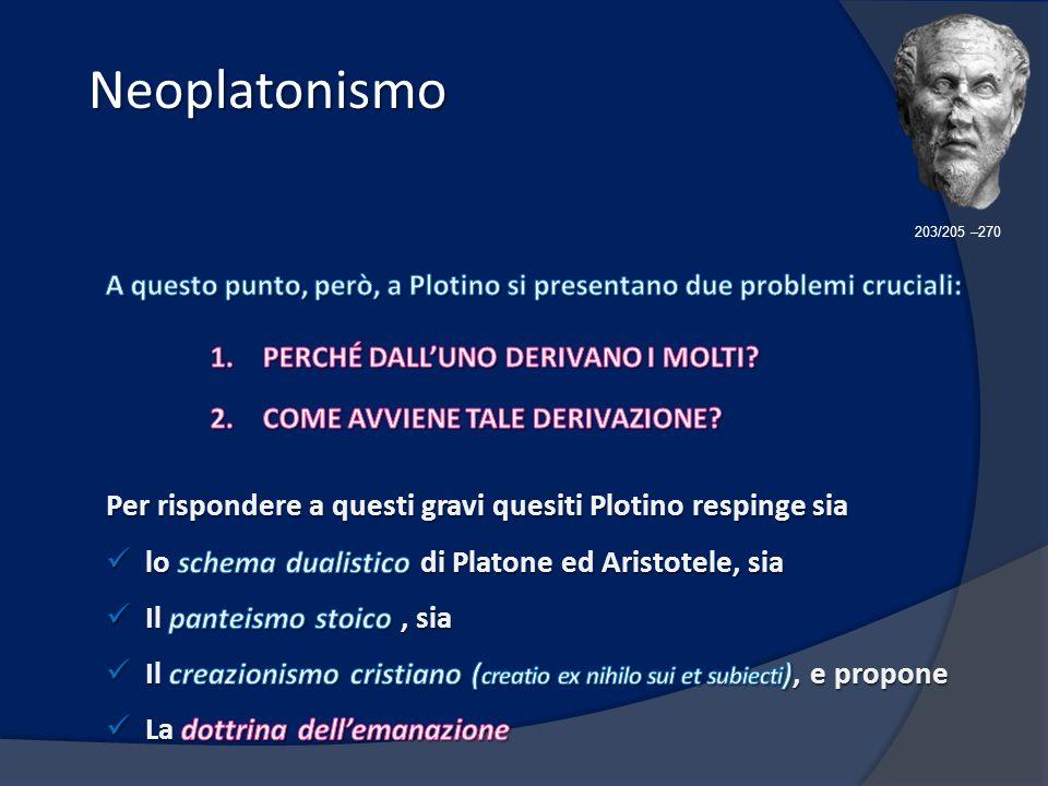 Neoplatonismo Neoplatonismo 203/205 –270