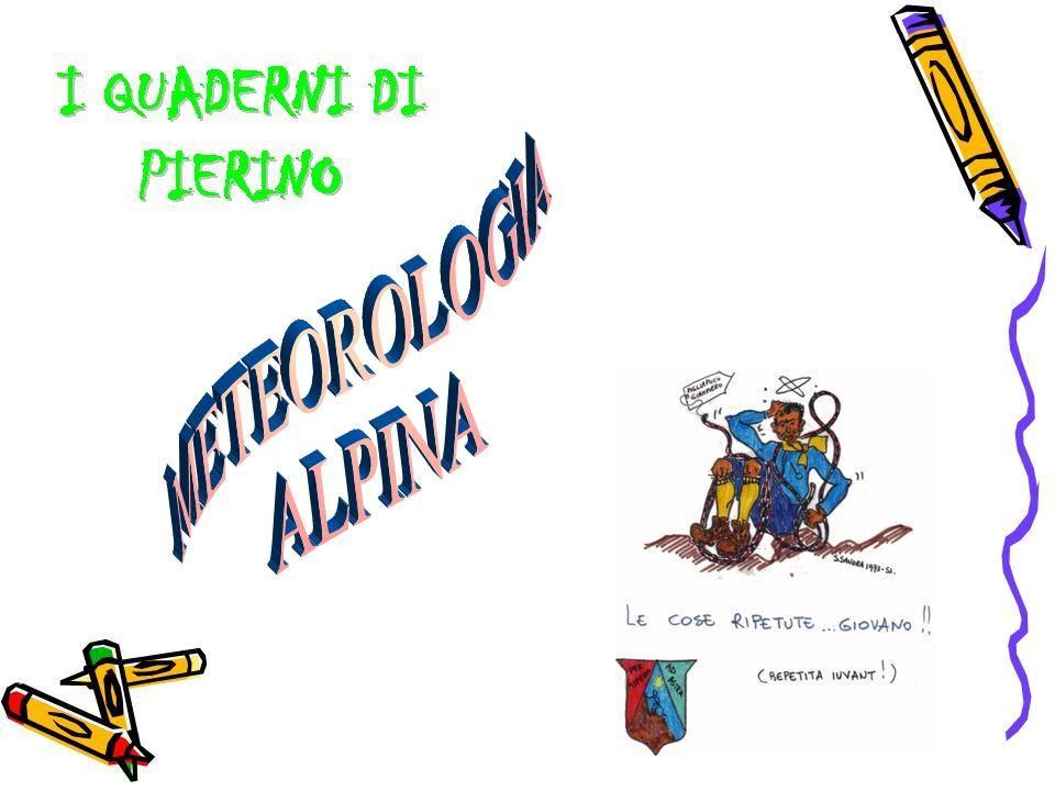 Schema dellevoluzione di un sistema frontale Fronte METEOROLOGIA ALPINA