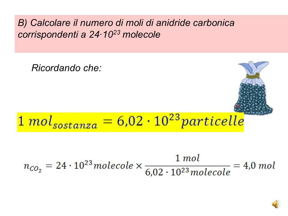 Per calcolare il numero di particelle contenute in una certa massa di sostanza uso la formula inversa: