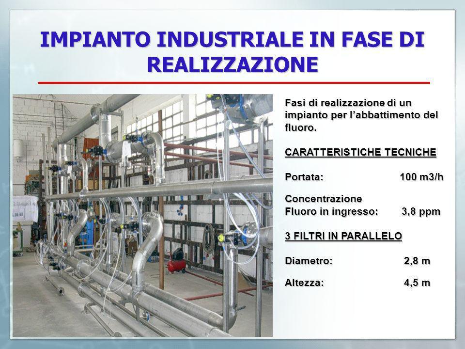 IMPIANTO INDUSTRIALE IN FASE DI REALIZZAZIONE Fasi di realizzazione di un impianto per labbattimento del fluoro.
