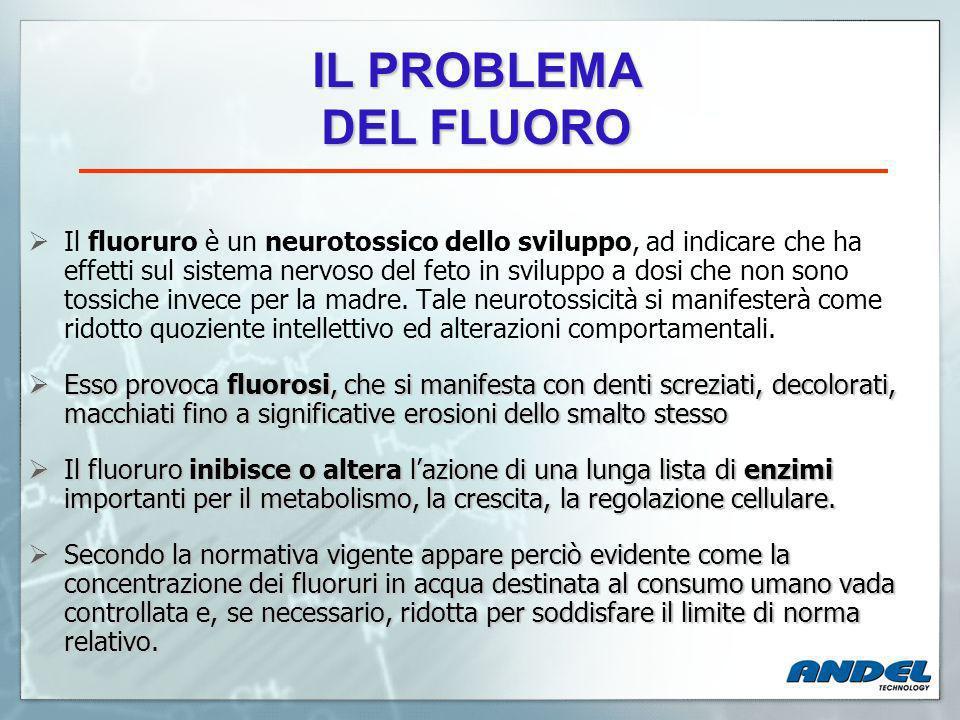 Il fluoruro è un neurotossico dello sviluppo, ad indicare che ha effetti sul sistema nervoso del feto in sviluppo a dosi che non sono tossiche invece per la madre.