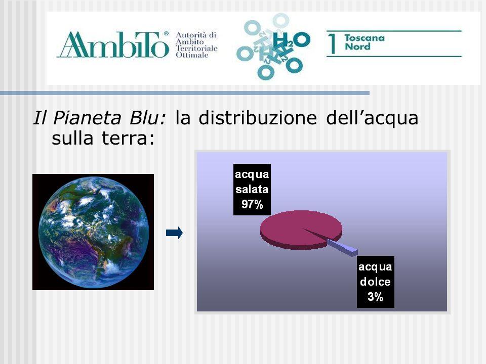 Il Pianeta Blu: la distribuzione dellacqua sulla terra: