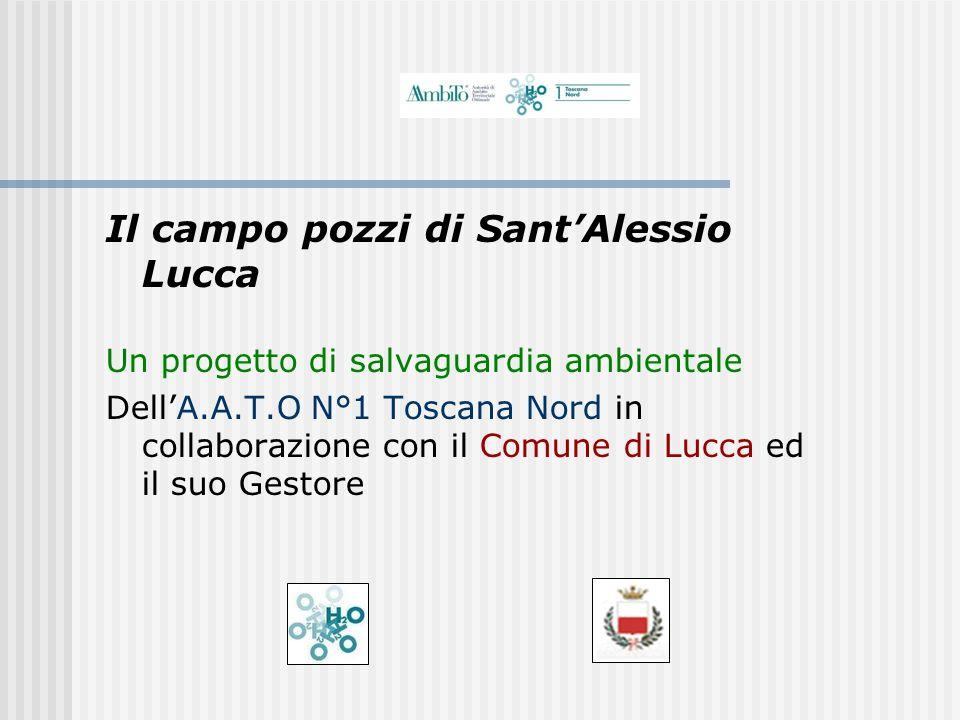 Il campo pozzi di SantAlessio Lucca Un progetto di salvaguardia ambientale DellA.A.T.O N°1 Toscana Nord in collaborazione con il Comune di Lucca ed il