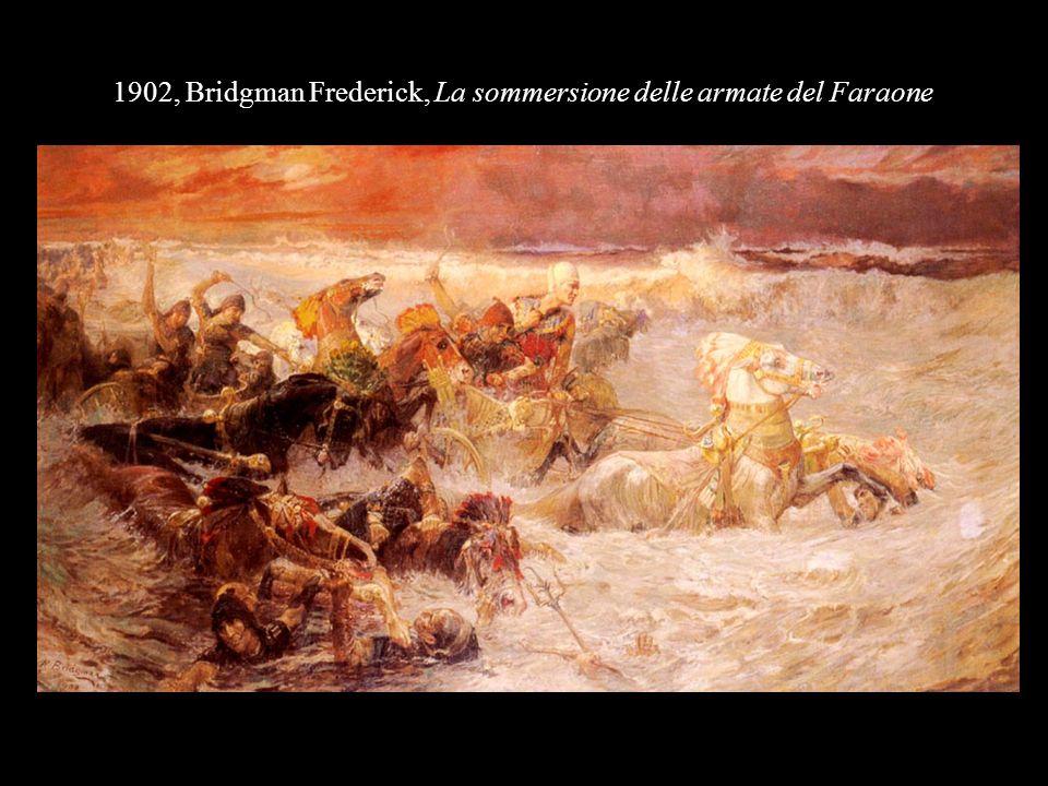 1902, Bridgman Frederick, La sommersione delle armate del Faraone