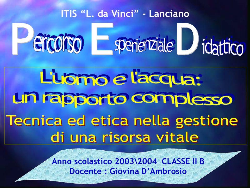ITIS L. da Vinci - Lanciano Anno scolastico 2003\2004 CLASSE II B Docente : Giovina DAmbrosio