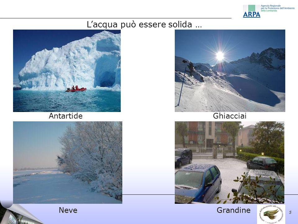 Lacqua può essere solida … Antartide Neve Ghiacciai Grandine 5