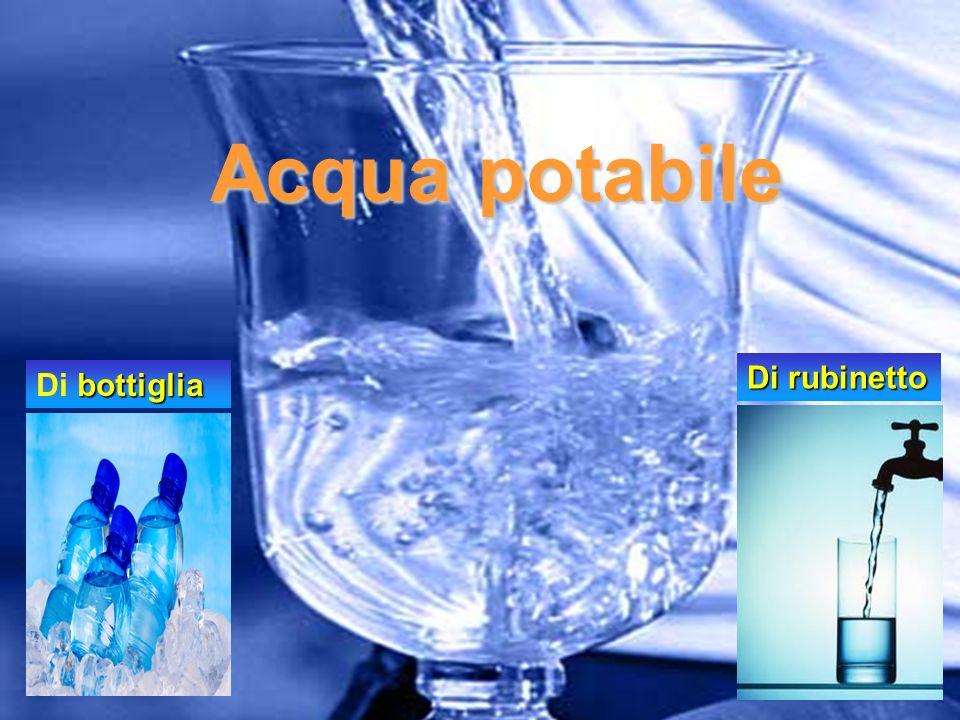 Cosa si intende per acqua potabile.