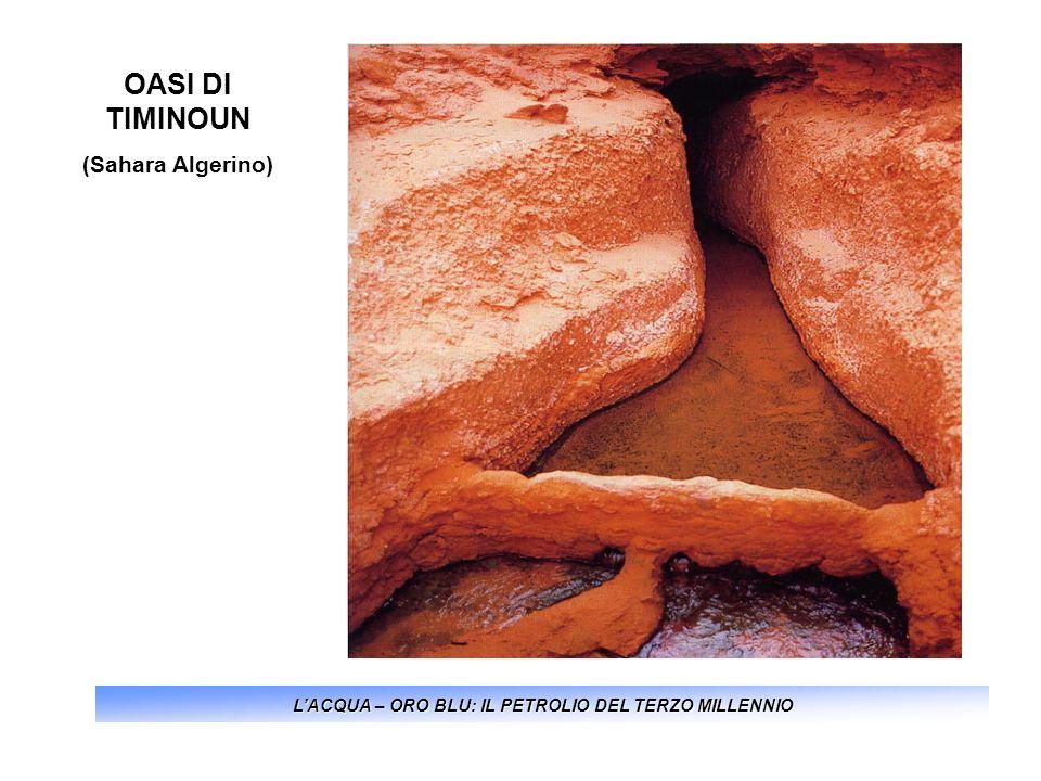 LACQUA – ORO BLU: IL PETROLIO DEL TERZO MILLENNIO OASI DI TIMINOUN (Sahara Algerino)