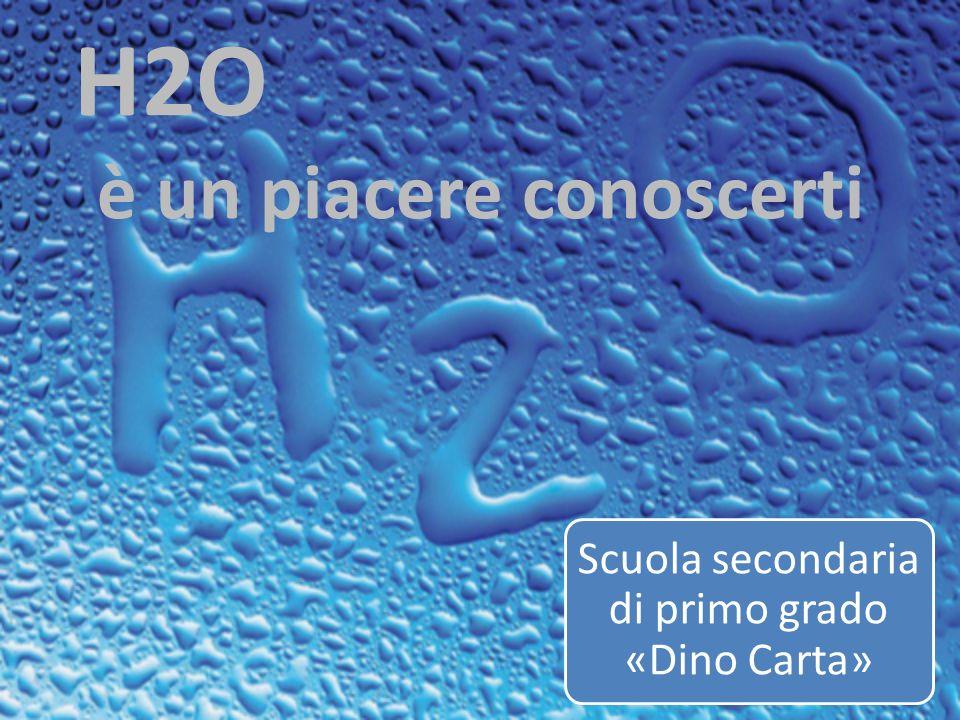 Scuola secondaria di primo grado «Dino Carta» H2O è un piacere conoscerti Scuola secondaria di primo grado «Dino Carta»Scuola secondaria di primo grado «Dino Carta»