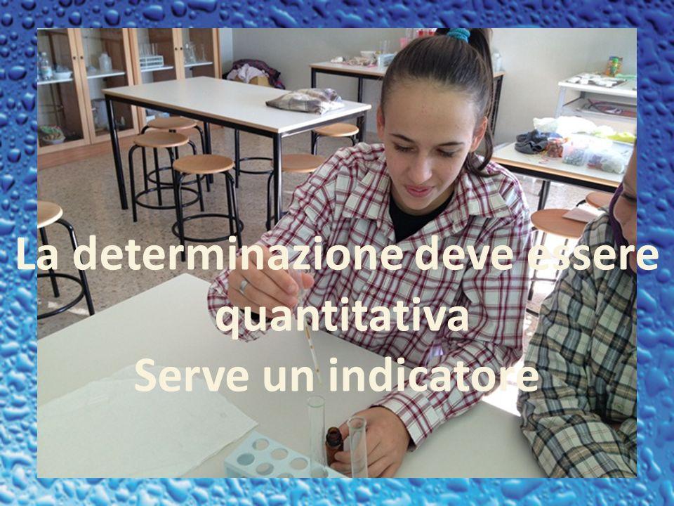 La determinazione deve essere quantitativa Serve un indicatore