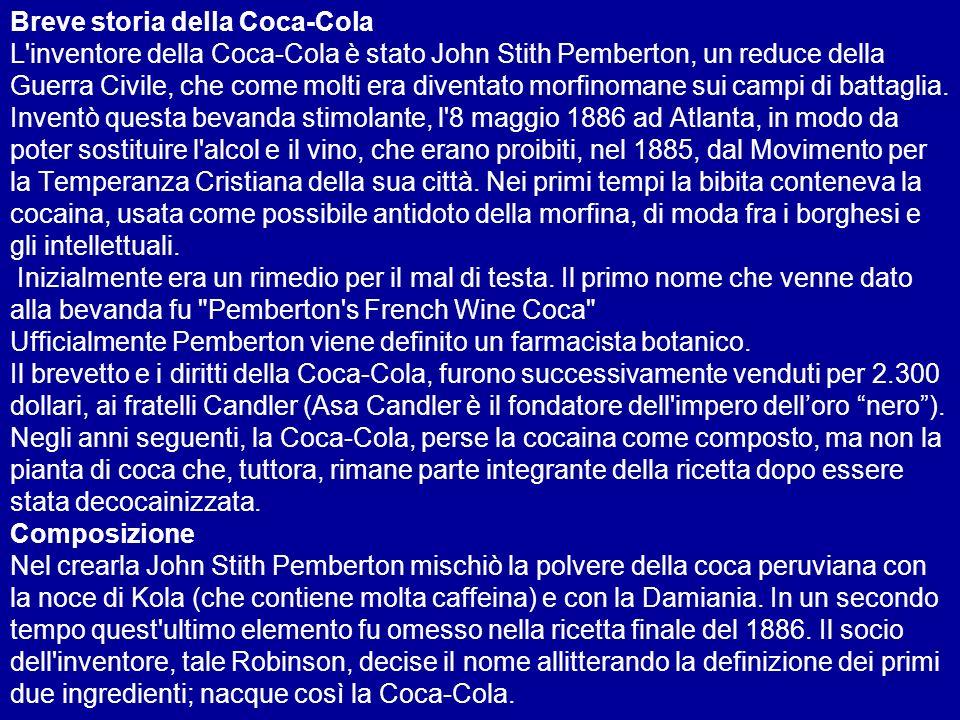 Ancora un dettaglio in più: La Coca Light è stata considerata da alcuni medici ricercatori, come una bomba ad effetto ritardato, a causa della combinazione Coca + Aspartame ( la massima dose ammissibile di Aspartame che si può assumere per tutta la vita, in Europa, è 40 mg/kg/die, cioè: 2 litri di Coca-diet + 0,5 kg di yogurt + 300 g di marmellata dolcificata + 2 caffè con Aspartame, oppure, per un uomo di 70 kg, 140 caffè circa, dolcificati come sopra)