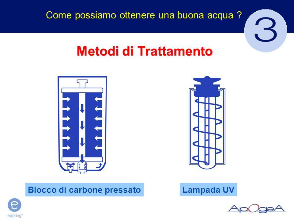 Metodi di Trattamento Lampada UV Blocco di carbone pressato Come possiamo ottenere una buona acqua ?