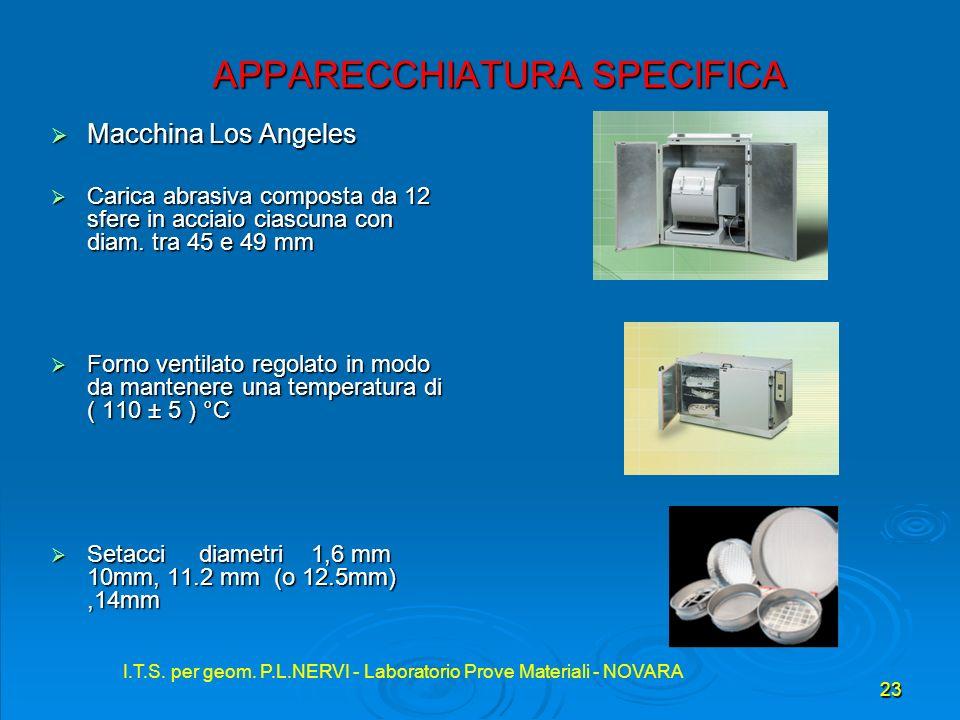 I.T.S. per geom. P.L.NERVI - Laboratorio Prove Materiali - NOVARA 23 I.T.S. per geom. P.L.NERVI - Laboratorio Prove Materiali - NOVARA APPARECCHIATURA