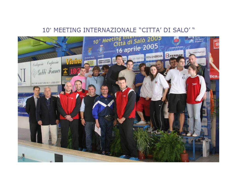 10° MEETING INTERNAZIONALE CITTA DI SALO