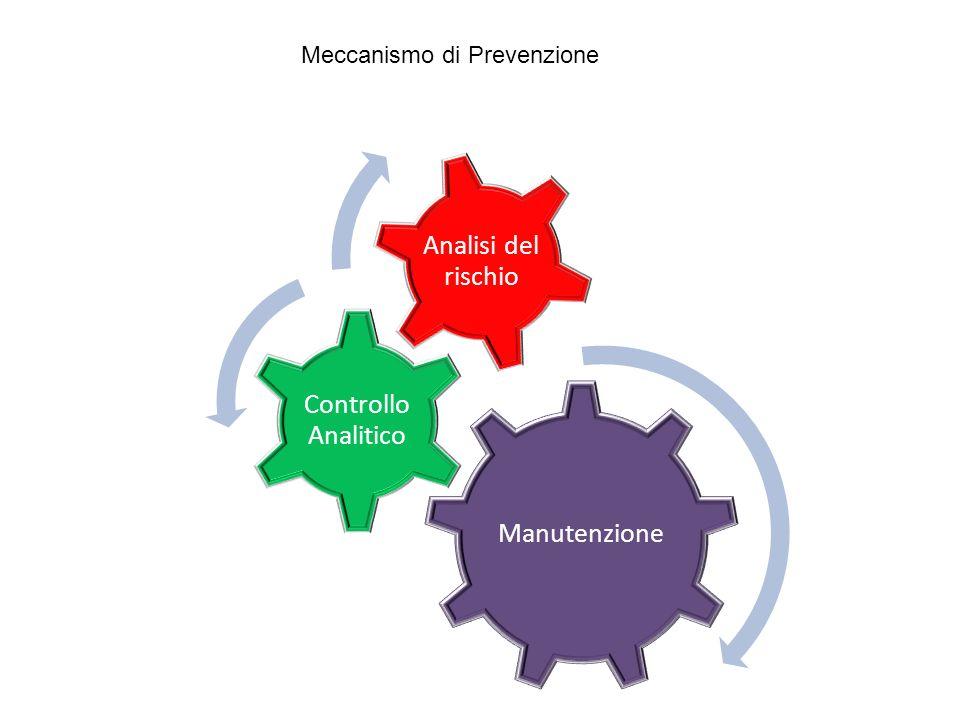 Manutenzione Controllo Analitico Analisi del rischio Meccanismo di Prevenzione