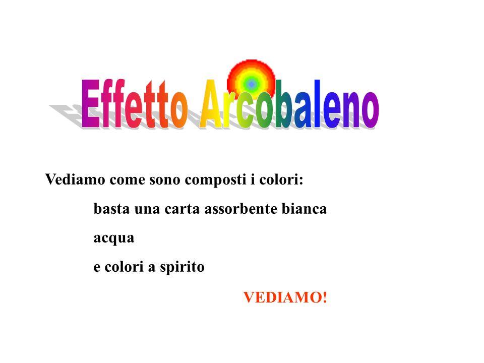Vediamo come sono composti i colori: basta una carta assorbente bianca acqua e colori a spirito VEDIAMO!