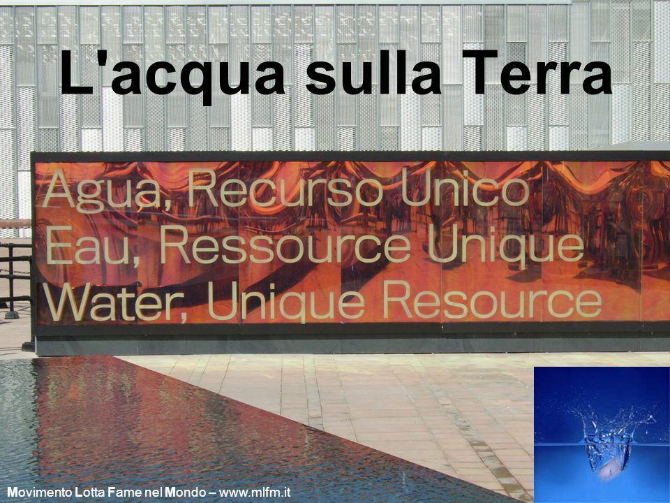 L'acqua sulla Terra Movimento Lotta Fame nel Mondo – www.mlfm.it