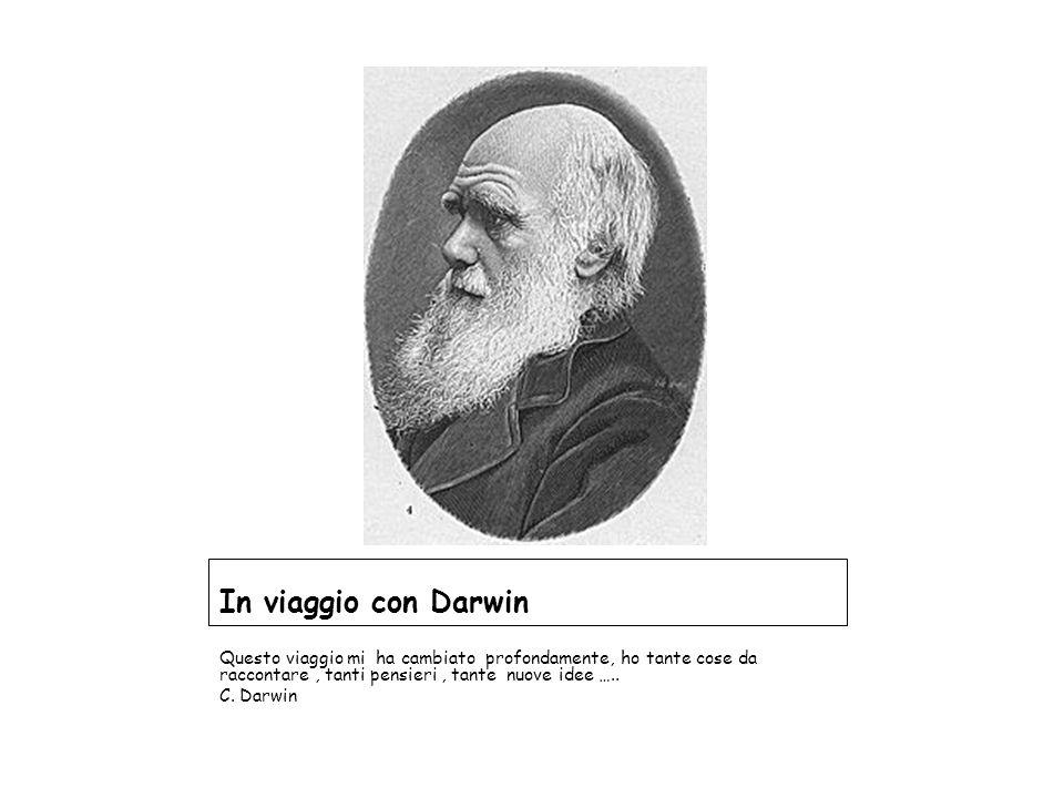 In viaggio con Darwin Questo viaggio mi ha cambiato profondamente, ho tante cose da raccontare, tanti pensieri, tante nuove idee ….. C. Darwin