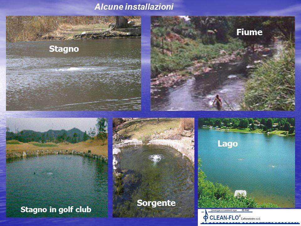 Alcune installazioni Stagno in golf club Lago Fiume Sorgente Stagno