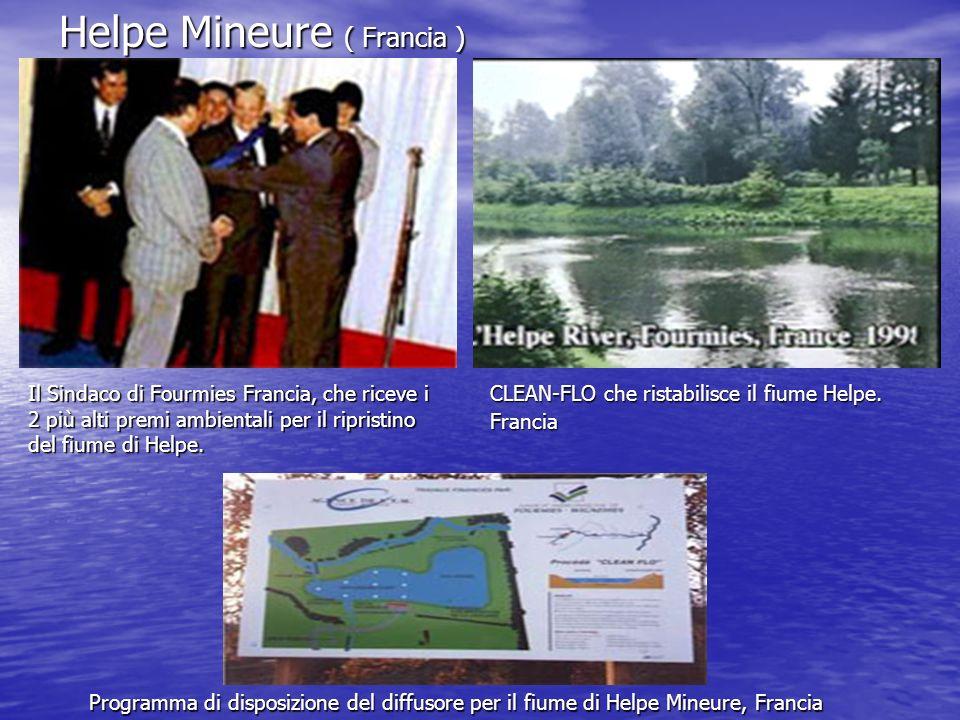 Helpe Mineure ( Francia ) Il Sindaco di Fourmies Francia, che riceve i 2 più alti premi ambientali per il ripristino del fiume di Helpe.